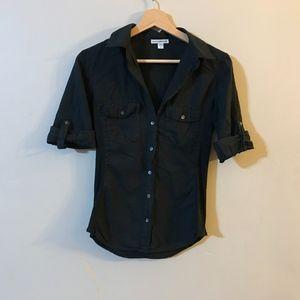 Standard James Perse Black Contrast Panel Shirt